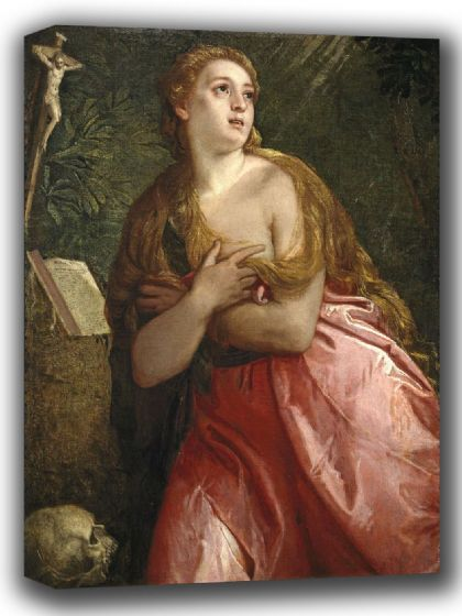 Veronese, (Paolo Caliari): The Penitent Magdalene. Fine Art Canvas. Sizes: A4/A3/A2/A1 (002015)
